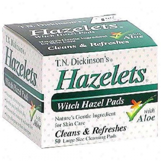T.n. Dickinson Hazelet Facial Pad W/aloe 50ct
