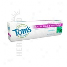Tom's Of Maine Fluoride-fere Antiplaque & Whitening Toothpaste Peppermint