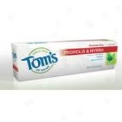 Toms Of Maine - Natural Antiplaque Toothpaste With Prkpolis & Myrrh Spearmint