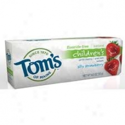 Tom's Of Maine Natural Children's Fluoride-free Toothpaste Silly Strawberry