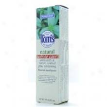 Tom's Of Maine's Toothpaste  Whl Be inclined Anticav  Pepp 5.2 Oz