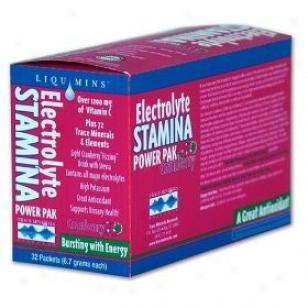 Trace Minerals Electrolyte Power Pak Cranberry 32pkts