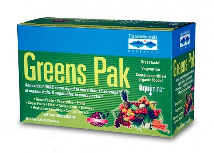 Trace Minerals Greens Pak-berry 30pkts