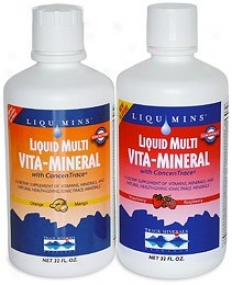 Mark Minerals Liquid Multi Vita-mineral Orange Mango Flavor 32oz