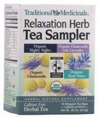 Traditional Medicinal Relaxation Herb Tea Sampler 16 Bags