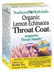Traditional Medicinal Throat Coat Lemon&echinacea Tea 16bags