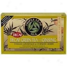 Triple Leaf Decaf Green Tea W/ginseng  20bags