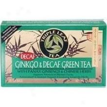 Triple Leaf Ginkgo & Decaf Green Tea 20bags