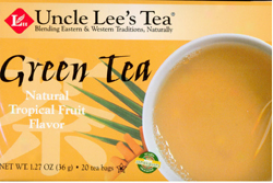 Uncle Lee's Green Tea W/ Tropical Fruit Flavor Tea 20tbags