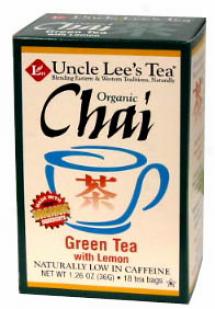 Uncle Lee's Organic Chai Green Tea W/ Lemon 18tbags