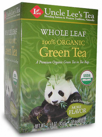 Uncle Lee's Whole Leaf Organized Green Tea 18tbags