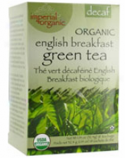Unle Lee's Imperial Organic Decaffeinated English Breakfast Green Tea 18 Ct