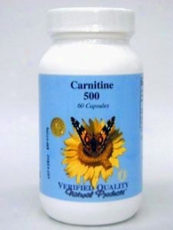 Verified Quality's L-carnitine 500 Mg 60 Caps