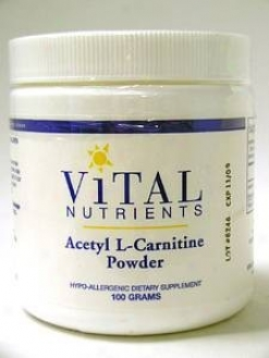Vital Nutrient's Acetyl L-carnitine Powder 100 Gms