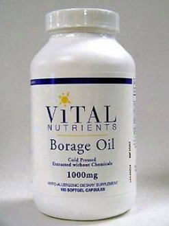 Vital Nutrient's Borage Oil 1000 Mg 180 Caps