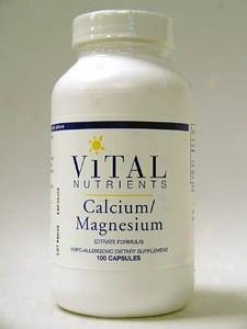 Vital Nutrient's Calcium Magnesium (citrate) 100 Caps