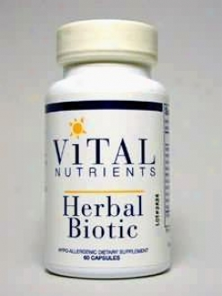 Vital Nutrient's Herbal Biotic 60 Caps