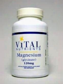 Vital Nutrient's Magnesium Glycinate 120 Mg 100 Caps