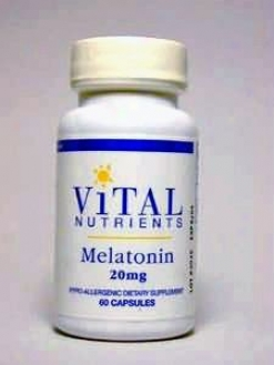 Vital Nutrien's Melatonin 20 Mg 60 Caps