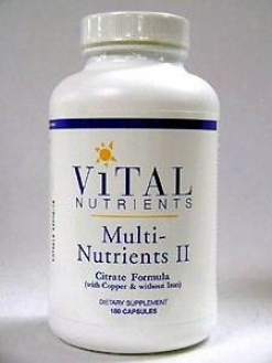 Vital Nutrient's Multi Nuutrients Ii (citrate) 180 Caps