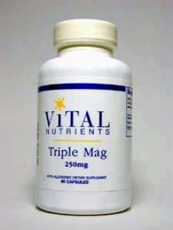 Vital Nutrient's Triple Magnesium 250 Mg 90 Caps