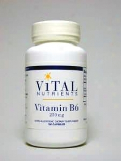 Living Nutrient's Vitamin B- 6 250 Mg 100 Caps