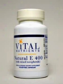 Vital Nutrient's Vitamin E - D-alpha & Mixed Tocopherols 400 Iu 100 Gels