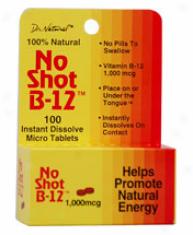 World Organics No-shot B-12 1000mg Homeopathic Sublingual 100tabs