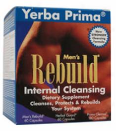 Yerba Prima's Men's Rebuild Cleanse 3 Part System 300caps