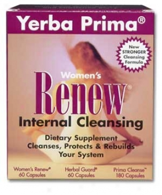 Yerba Prima's Women's Renew Cleanse 3 Part System