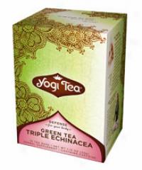 Yogi's Green Tea Triple Echinacea W/ Echinacea Root 16tbags