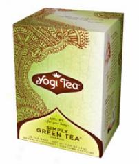 Yogi's Simply Green Tea Certified Organic 16tbags