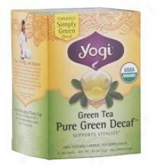 Yogi's Simply Green Tea Decaffeeinzted Cert Organic 16tbage