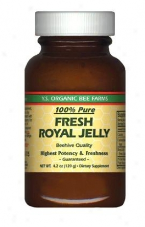 Y.s. Fresh Royal Jelly 100% Pure (glass Bottle) 120,000 Mg 4.2oz (1a)