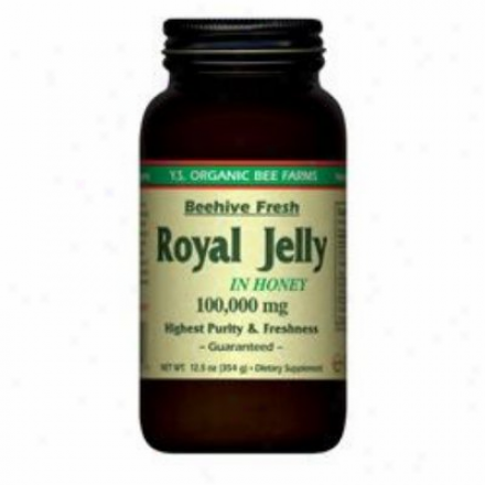 Y.s. Royal Jelly In Honey 100,000mg (glass Bottle) 12.5oz (210)