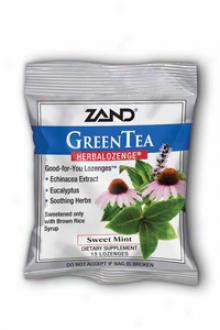 Zand Herbalozenge Green Tea W/echinacea 15lzgs